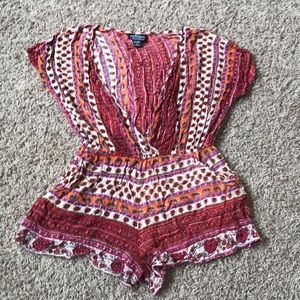 Patterned Beach Coverup Romper